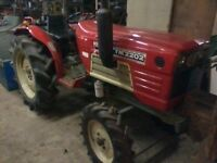 YANMA tractor + Flail mower+frame mounted harrows+tipping work box +3pt link ball hitch ect