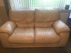 Two seater leather sofa excellent condition
