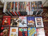 50 original dvd's, , films include Terminator Salvation, Bronson, Kick-Ass, Rush Hour 3 & lots more.