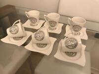 FOR SALE DESIGNER 6 PCS TEA SET