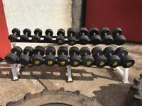 Gym dumbell weight rack