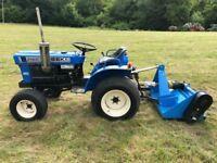 ISEKI 2160 4WD Compact Tractor with New 4ft Flail Mower, 18HP, Spool Valves