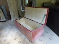 Lovely old ottoman style bedding storage box and seat