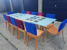 Confrence tabke x 12 chairs + Delivery
