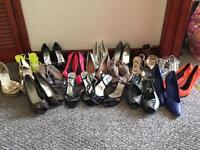19 pairs of shoes 1 pair of wellies