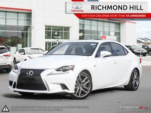 2016 Lexus IS 350 F-Sport Red Leather Moonroof Powerful V6