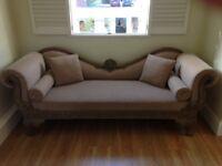 Shabby chic chaise longue sofa