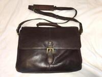 Hidesign Brown Leather Work Bag / Briefcase / Laptop bag
