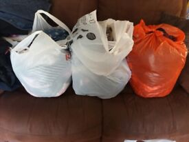 3 bags of various girls clothes
