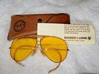 789f8373a801 VINTAGE RAY-BAN AVIATOR   SHOOTER SUNGLASSES   CASES