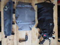 Bike Packing Bags with tent and sleeping mat. Bike panniers/bags