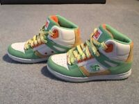 PRISTINE CONDITION UK Size 5 DC Womens Rebound Hi Shoes/Trainers With Box, WORN ONCE! RRP $80