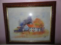 Original framed painting of House