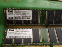 2 Strips or Promos DDR 400mhz 256mb memory