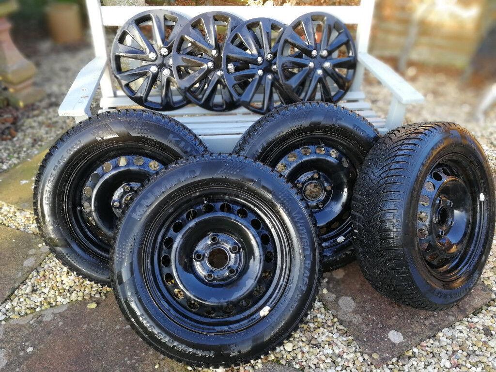 4 x Steel Wheels & Tyres - Skoda Octavia MK2/MK3