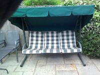 Three Seater Garden Swing Seat.