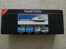 Russell Hobbs Classic Electric Carving Knife with 2 sets of blades excellent condition / rarely used