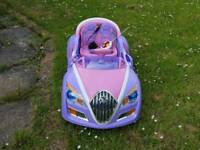 Purple and Pink 12V Girls Electric Car, Styled on Bugatti Veyron