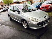 PEUGEOT 307 SPORT 5 DOOR LONG MOT LOW MILES £1095