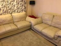 3 seat and 2 seat leather sofas
