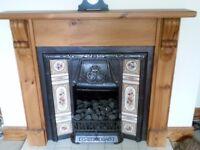 pine fireplace