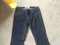 "Victoria Beckham Blue Jeans Flared 29"" waist"