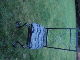 2 x Metal based Swirl Chairs