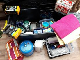 REDUCED FOR CLEARANCE! Large storage Box containing Camping Essentials / Luxuries