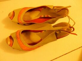 Colourful wedge sandals size 39