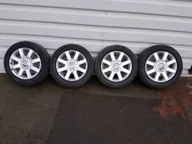 VW GOLF MK5 16 INCH ALLOY WHEELS
