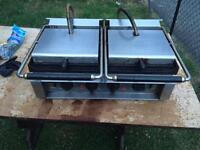 Double commercial panini / contact grill REDUCED NEED GONE