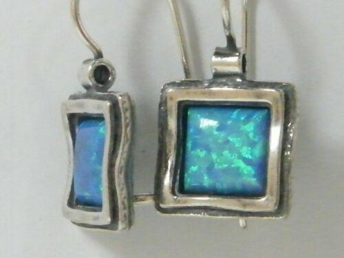 Elegant New Shablool Didae Sterling Silver Earrings Blue Opal For Women