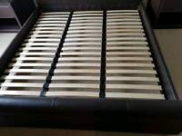 Superking leather bed frame