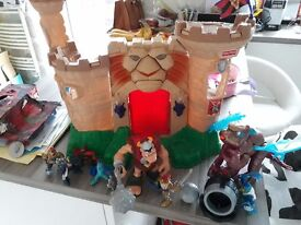 Toy castle and figures