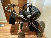 bebe confort Windoo Pram + Carrycot + Buggy + Creatis Carseat