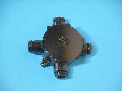 Industrie Design Bakelit-Verteilerdose rund IP55 Art Déco