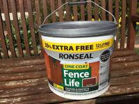 Ronseal One Coat Fencelife 9L Plus 33% Free Red Cedar