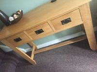 Oak furniture land console table solid oak