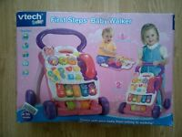 VTECH FIRST STEPS BABY WALKER LEARNING MUSICAL TOY WITH BOX