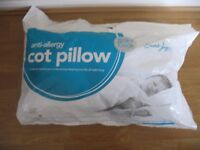 Cot bed duvet tog 4.5 and pillow unused