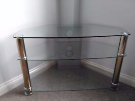 Glass TV unit in great condition for sale