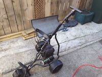 Battery operated golf trolley
