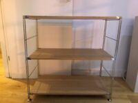 Muji Shelving unit - Oak and steel