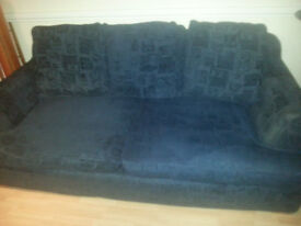 CHEAP!! SOFA WITH COMPLETELY REMOVABLE COVERS,FEATHER FILLED, & BASE COMES APART FOR EASY ACCESS.
