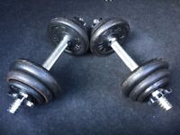 20kg Black Iron Dumbbell Training Gym Fitness Weight Set