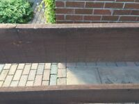 3 pieces of wooden slats, previously used as fencing