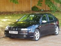 Seat Leon Cupra TDI (150 BHP) + 2004/04 +COSMOS BLACK + 150 BHP + 6 SPEED + FSH + FULL LEATHER +