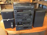 Sony Hi Fi system including record player, delivery available