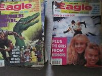 Over 100 comics from the mid 1980s, eagle,victor,battle,whizzer and chips and eagle monthly