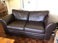 Next Leather 3 seater couch